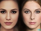 Vlevo matematický model ideální krásky, vpravo skutečnost - Gabriela Bendová.