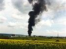Požár galvanovny v Lanškrouně. (20. dubna 2014)