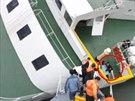 Kapitán potápějícího se jihokorejského trajektu Sewol opouštěl loď mezi prvními.