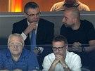 Šéf KHL Alexandr Medveděv při finále v O2 areně.