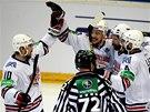 Radost hokejist� Magnitogorsku.