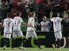 Radost fotbalistů Sevilly.
