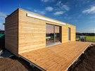 Dům je obložený severským modřínem, budou-li jej majitelé natírat, uchová si