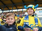 Malí fanoušci fotbalistů Teplic.