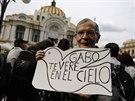 """""""Uvidíme se v nebi, Gabo,"""" loučil se se spisovatelem jeho fanoušek v Mexiku."""