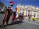 �v�carsk� garda �ek� na p��jezd pape�e Franti�ka, kter� v ned�li slou�� na