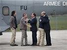 Francouzský prezident Francois Hollande a ministr zahraničí Laurent Fabius