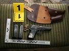Policie zajistila při domovních prohlídkách na Trutnovsku zbraně a vojenský...
