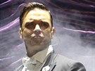Robbie Williams p�edvedl v Praze 26.4. 2014 svoji swingovou show.