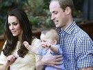 Princ George měl z návštěvy zoo velkou radost (Sydney, 20. dubna 2014).