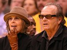 Diane Keatonová a Jack Nicholson (28. listopadu 2003)