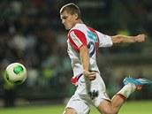 Tomáš Necid, útočník Slavie, v utkání proti Bohemians.