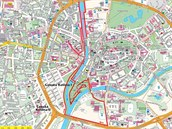 Trasa závodu seriálu Night Run 2014, který se poběží 26. dubna 2014 v Hradci...