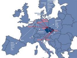 Mapa Evropa červen 2013
