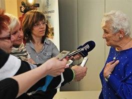 O příběh Miroslavy Křepelkové byl mezi novináři velký zájem. (23. dubna 2014)