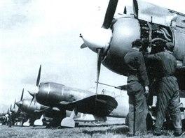 Sovětské stíhačky Lavočkin La-5FN patřily k nejčastěji používaným strojům na...