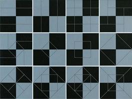 Jan Kubíček: Výzkum čtverce (pozitivně-negativně), 1970-78