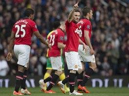 OSLAVA GÓLU. Juan Mata se raduje, zápas proti Norwichi mu vyšel. Na vítězství...