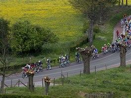 Momentka z cyklistického závodu  Amstel Gold Race.