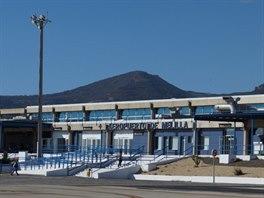 Terminál letiště v Melille. Létají se pouze španělské vnitrostátní linky.