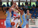 Momentka z druhého ligového finále mezi týmy IMOS Brno (bílá) a USK Praha.