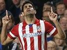 Diego Costa z Atlétika Madrid oslavuje svůj gól v semifinále Ligy mistrů na...