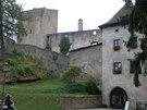 U hradu Landštejn překvapí především jeho rozlehlost a členitost.