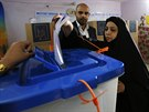 Parlamentní volby v Iráku (Bagdád, 30. dubna 2014).