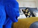 Velká modrá gorila v pánské ložnici e od společnosti MIO International.