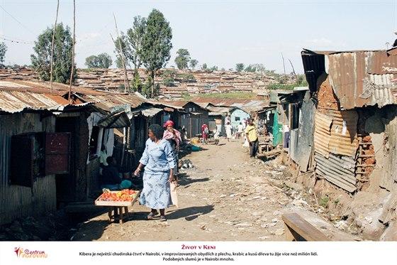 Chudinská čtvrť v Nairobi