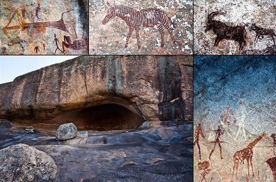 Krajina se spoustou jeskyní a převisů nabízí ideální zázemí bývalým původním...