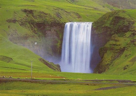 Island, vodop�d Skogafos
