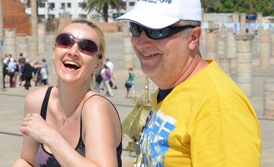 Linda Finková se po boku partnera Milana Večese cítí klidněji.