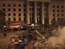 Následky nepokojů v ukrajinské Oděse (3. května 2014)