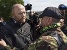 Šéf vojenských pozorovatelů OBSE ve Slavjansku Axel Schneider po propuštění,...