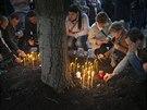 Obyvatelé Doněcku truchlí za mrtvé z Oděsy (4. května 2014)