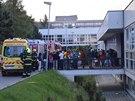 Požár vysokoškolských kolejí ve Vinařské ulici v Brně.