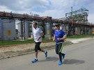Průvodcem mi byl tiskový mluvčí  a nadšený běžec Jaroslav Obermajer, který se