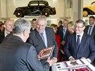 Německý prezident Joachim Gauck a česká hlava státu Miloš Zeman na návštěvě...