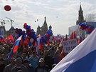 Na prvom�jov� demonstraci na moskevsk�m Rud�m n�m�st� se se�lo asi sto tis�c...