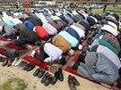 Muslimové se rozhodli na protest proti policejnímu zásahu v Islámské nadaci v...