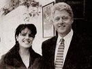 Monica Lewinská a tehdejší americký prezident Bill Clinton (1998)