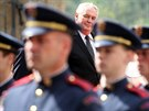 Prezident Miloš Zeman během návštěvy svého německého protějška Joachima Gaucka...