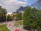 Požár skládky odpadů v areálu společnosti OZO v Ostravě-Hrušově (4. května...