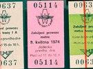 Když metro začínalo, jezdilo se ještě na jízdenky z tvrdého kartonu, které si...