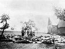 Němci vypálili Lidice v roce 1942. Ženy, které byly v koncentračních táborech,...