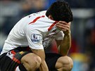 Liverpoolsk� �to�n�k Luis Suarez pl��e po z�pase na Crystalu Palace, kde jeho...