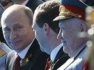 Vojenskou přehlídku na Rudém náměstí si vychutnal i ruský prezident Vladimir