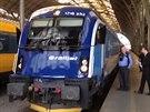 České dráhy představily novou vlakovou soupravu Railjet.
