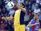Diego Costa z Atlétika Madrid (vlevo) v utkání proti Levante.